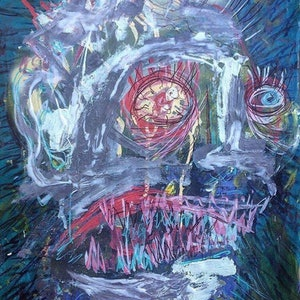 (CreativeWork) Incandescent Rage by Dominic J White. arcylic-painting. Shop online at Bluethumb.