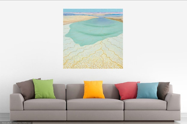(CreativeWork) Water at Last  by Trevor Brown. Oil Paint. Shop online at Bluethumb.