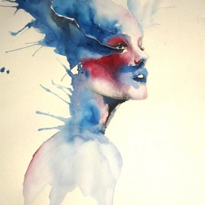 (CreativeWork) caught in a moment by Matthew Halstead. watercolour. Shop online at Bluethumb.
