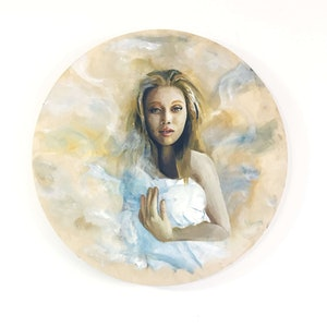(CreativeWork) Now I See You by Maryia Yepanchyntsava. oil-painting. Shop online at Bluethumb.