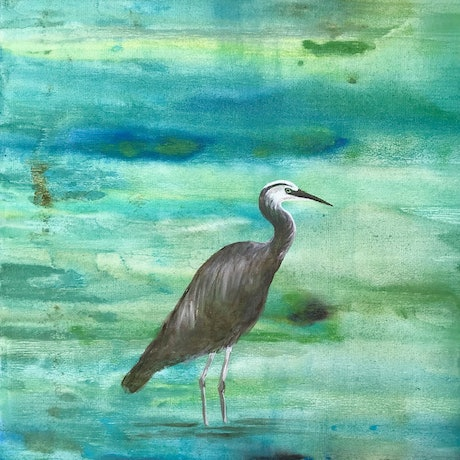 (CreativeWork) Serenity by Susanne Tester. Acrylic Paint. Shop online at Bluethumb.