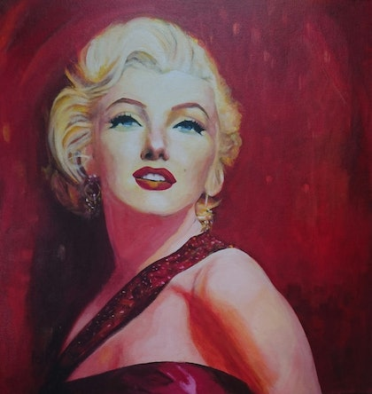 (CreativeWork) Iconic Marilyn by Paola Ditel. arcylic-painting. Shop online at Bluethumb.
