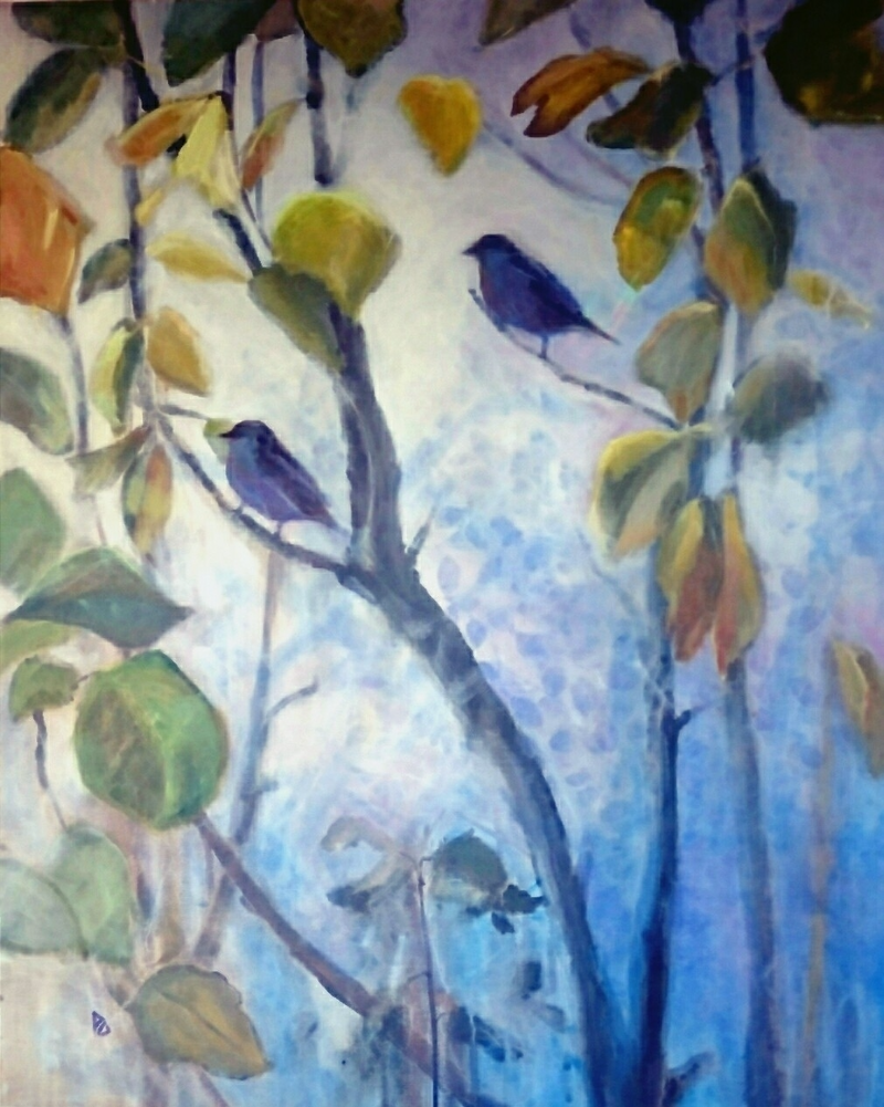 (CreativeWork) Birds eye view. by Paola Ditel. arcylic-painting. Shop online at Bluethumb.