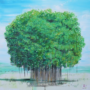 (CreativeWork) THE BANYAN TREE by Lily Iris. arcylic-painting. Shop online at Bluethumb.