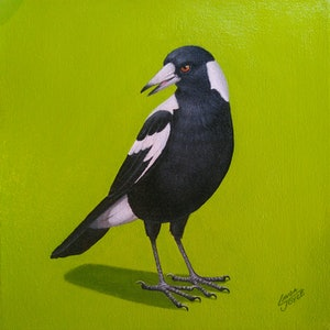 (CreativeWork) MAGPIE#5 by Linda Joyce. arcylic-painting. Shop online at Bluethumb.