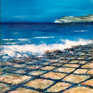 (CreativeWork) Tessellated Pavement  by JOLANTA BIBIANNA MACIOLEK. arcylic-painting. Shop online at Bluethumb.