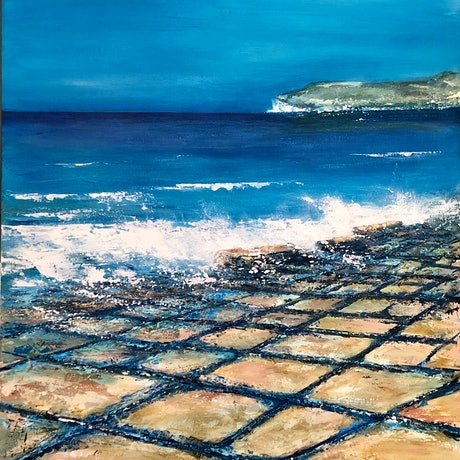 (CreativeWork) Tessellated Pavement  by JOLANTA BIBIANNA MACIOLEK. Acrylic Paint. Shop online at Bluethumb.