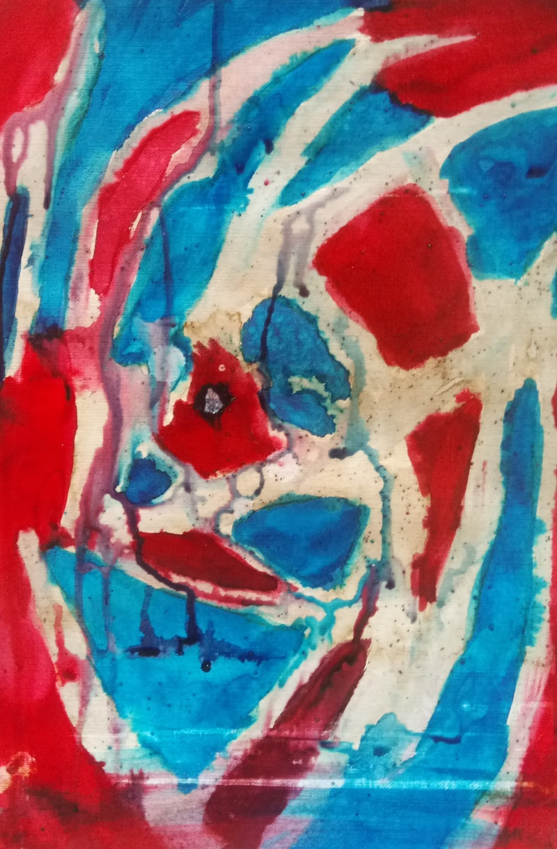 Blue And Coffee Too Abstract Expressionism Varnished