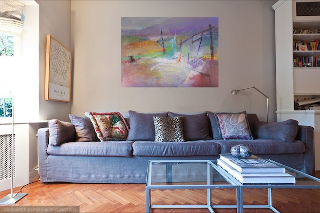 (CreativeWork) Coastal Abstraction by Roland Weight. Oil Paint. Shop online at Bluethumb.