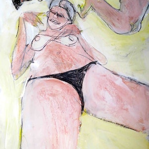 (CreativeWork) beach babes 2  by John Graham. mixed-media. Shop online at Bluethumb.