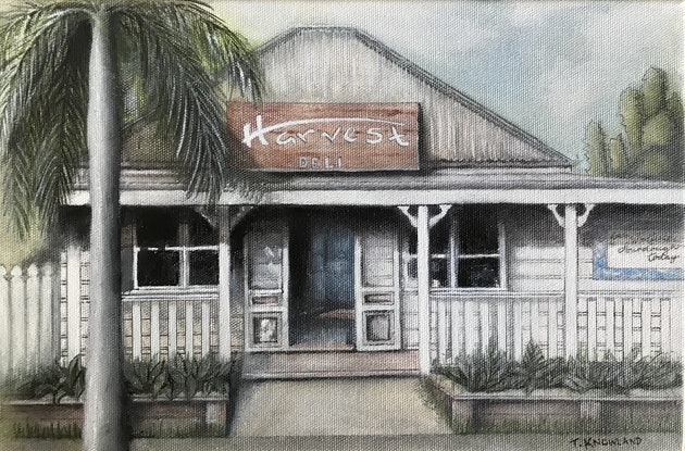(CreativeWork) Get in My Deli by Tracey Knowland. Oil Paint. Shop online at Bluethumb.
