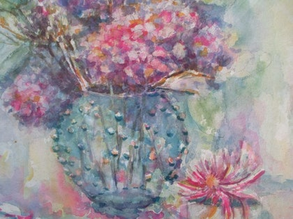 (CreativeWork) From the Garden by kay steels. watercolour. Shop online at Bluethumb.
