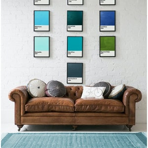 (CreativeWork) Colours of Aussie Waters [dectych] by Donna Christie. arcylic-painting. Shop online at Bluethumb.