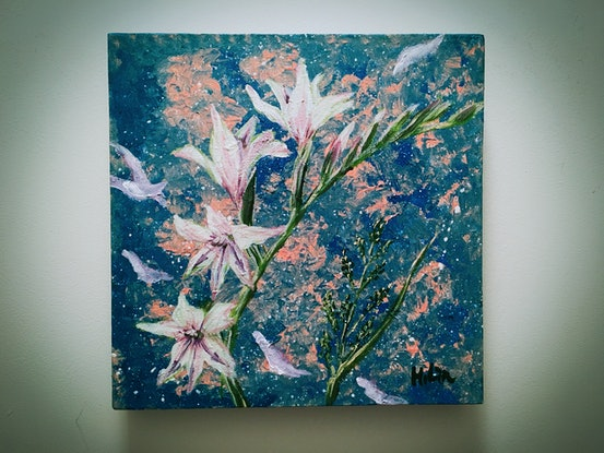 (CreativeWork) WIND BROUGHT YOU TO ME - Ready to hang  by HSIN LIN. Acrylic Paint. Shop online at Bluethumb.