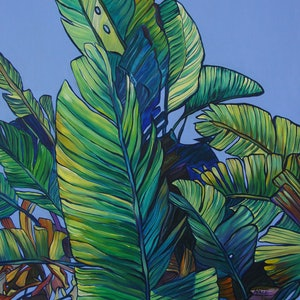 (CreativeWork) Leaves by Katerina Apale. arcylic-painting. Shop online at Bluethumb.