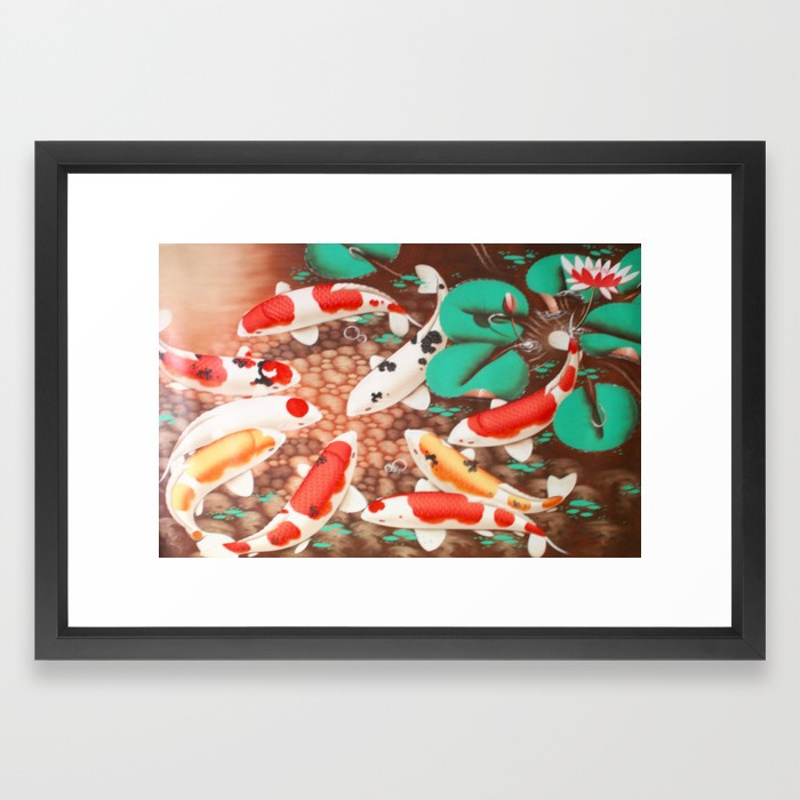 (CreativeWork) Koi fish limited edition print Ed. 1 of 100 by DEREK ERSKINE. print. Shop online at Bluethumb.