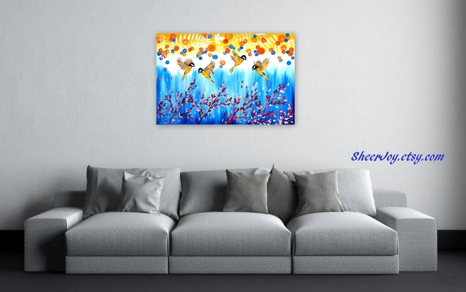 (CreativeWork) Family by Cathy Snow. Acrylic Paint. Shop online at Bluethumb.