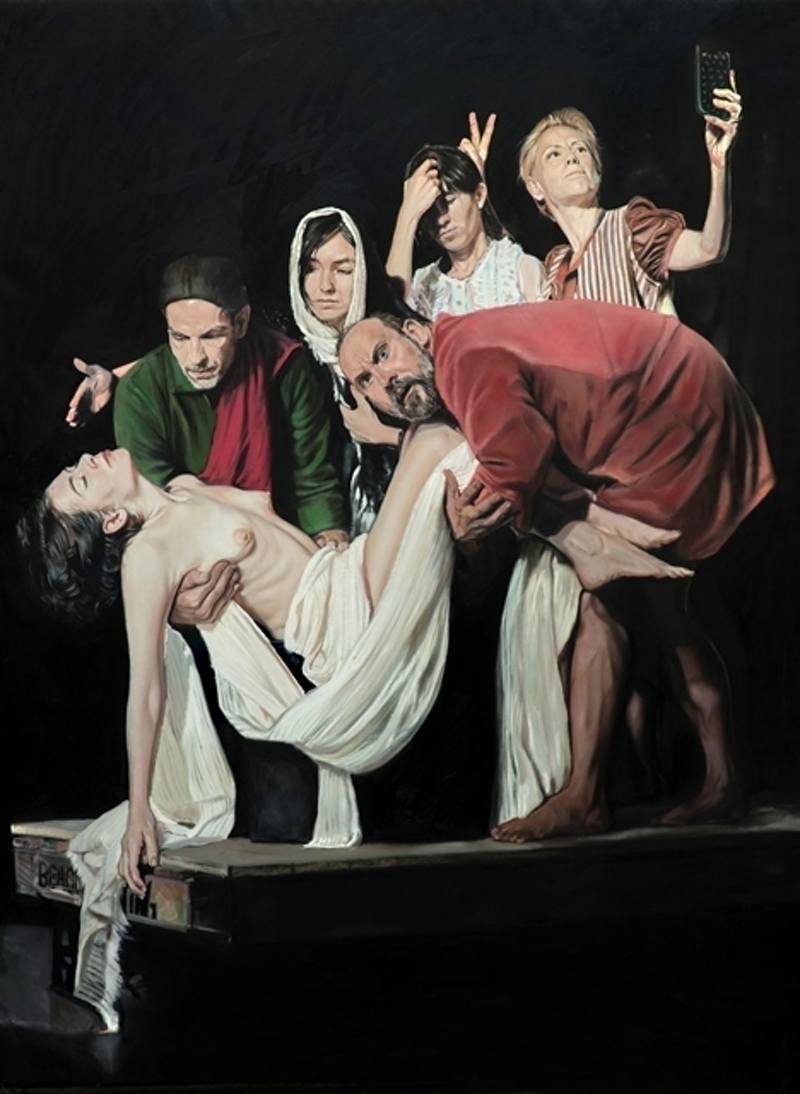 (CreativeWork) Sacrifice of the Model by Mertim Gokalp. oil-painting. Shop online at Bluethumb.