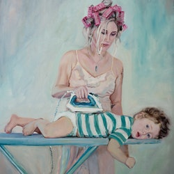 (CreativeWork) mama keeps me warm  by Mertim Gokalp. Oil Paint. Shop online at Bluethumb.
