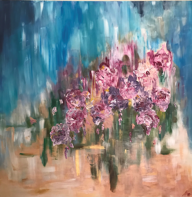 (CreativeWork) Bloom by Maggie Deall. arcylic-painting. Shop online at Bluethumb.