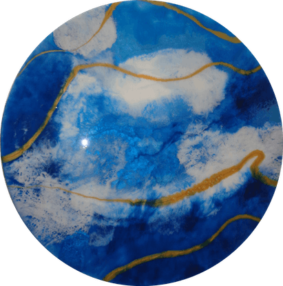 (CreativeWork) Out of the window by Maggie Deall. Resin. Shop online at Bluethumb.