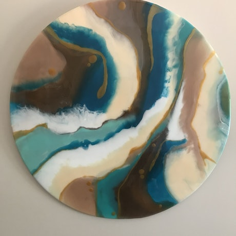 (CreativeWork) Geo by Maggie Deall. Resin. Shop online at Bluethumb.