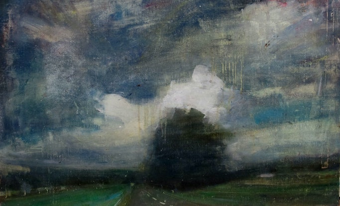 (CreativeWork) Road to Eildon by Claude Ciccone. Oil Paint. Shop online at Bluethumb.