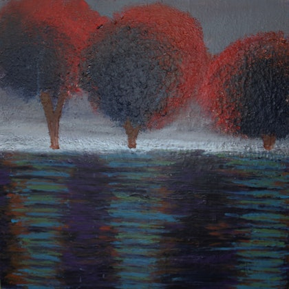 (CreativeWork) A MISTY DAY by Hang Minh Vu. arcylic-painting. Shop online at Bluethumb.