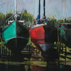 (CreativeWork) Dry Docked by Gerry Jensen. other-media. Shop online at Bluethumb.
