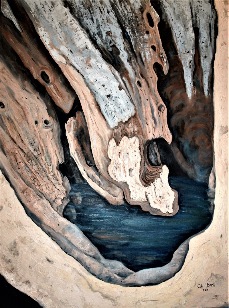Anatomy of a Timeworn Tree Trunk by Catherine Horton. Paintings for ...