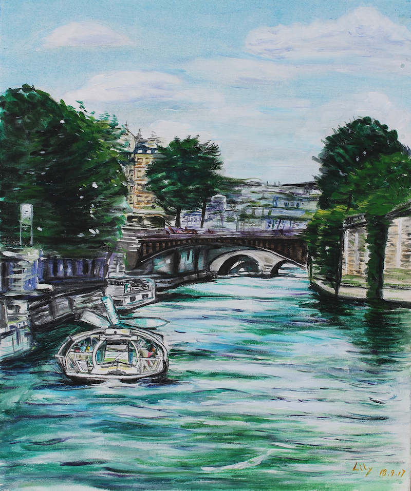 (CreativeWork) PARIS PARIS by Lily Iris. arcylic-painting. Shop online at Bluethumb.