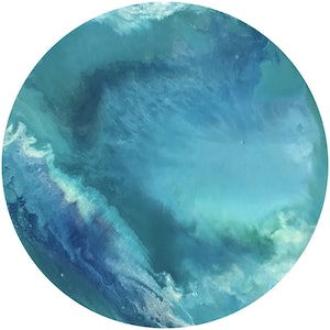 (CreativeWork) Shallow Waters 2017 by Virginia Harding. arcylic-painting. Shop online at Bluethumb.