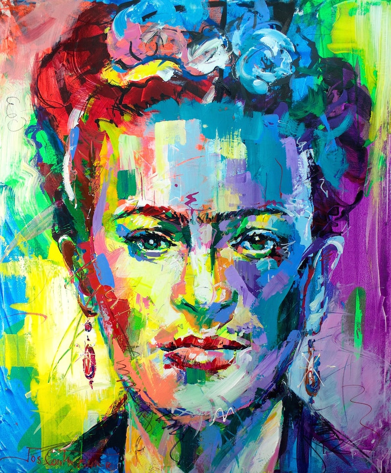 Frida Kahlo By Jos Coufreur Paintings For Sale Bluethumb Online