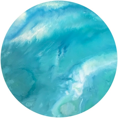(CreativeWork) Tranquil Water  by Virginia Harding. Acrylic Paint. Shop online at Bluethumb.