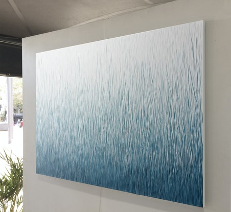 (CreativeWork) 'SECOND SILENCE' 152 x 101cm Acrylic Painting on Canvas  Commission by George Hall. Acrylic Paint. Shop online at Bluethumb.