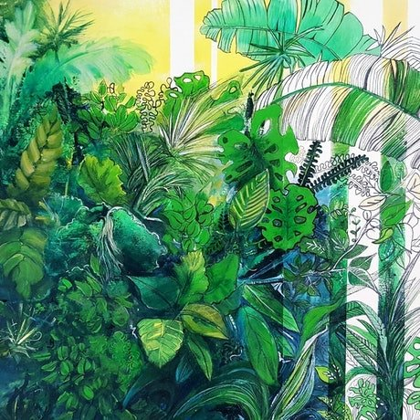(CreativeWork) Greenery 2 - Limited Edition Giclee Art Print 3/ -100 Ed. 3 of 100 by Cathy Gilday. Print. Shop online at Bluethumb.