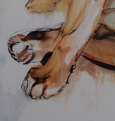 (CreativeWork) Bulldog by Bronwen Hunt. Oil Paint. Shop online at Bluethumb.