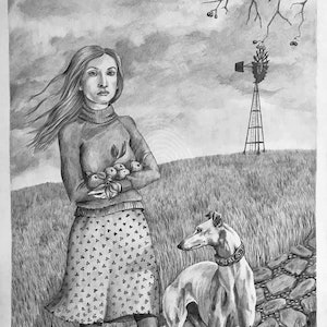 (CreativeWork) Mallee Field by Antoinette Stokell. drawing. Shop online at Bluethumb.