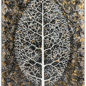 (CreativeWork) Tree in Field - Winter by Miranda Lloyd. mixed-media. Shop online at Bluethumb.