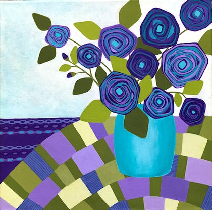 (CreativeWork) Simply Irresistible  by Lisa Frances Judd. Acrylic Paint. Shop online at Bluethumb.