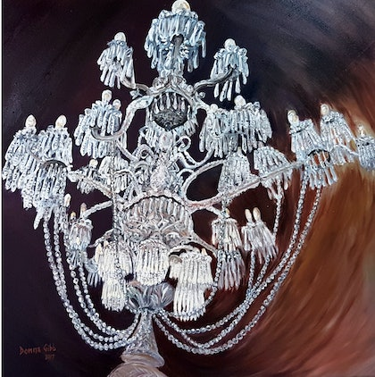 (CreativeWork) Paris Candelabra by Donna Gibb. oil-painting. Shop online at Bluethumb.