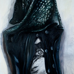 (CreativeWork) Lose me in the dark by SILVIA A SELLITTO. oil-painting. Shop online at Bluethumb.