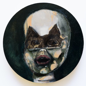 (CreativeWork) Nocturnal bandit by SILVIA A SELLITTO. oil-painting. Shop online at Bluethumb.