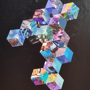 (CreativeWork) Upright crystal by Keren Rubinstein. mixed-media. Shop online at Bluethumb.