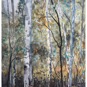 (CreativeWork) Australian Bush  by Caroline Deeble. watercolour. Shop online at Bluethumb.