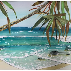 (CreativeWork) Summer Dreaming  by Caroline Deeble. watercolour. Shop online at Bluethumb.