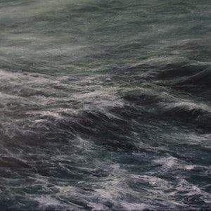 (CreativeWork) Untamed Sea by GEOFF WINCKLE. oil-painting. Shop online at Bluethumb.
