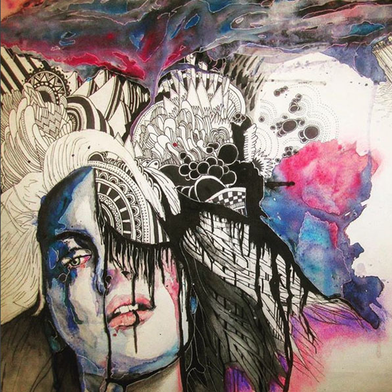 (CreativeWork) Life can be overwhelming by Matthew Halstead. mixed-media. Shop online at Bluethumb.
