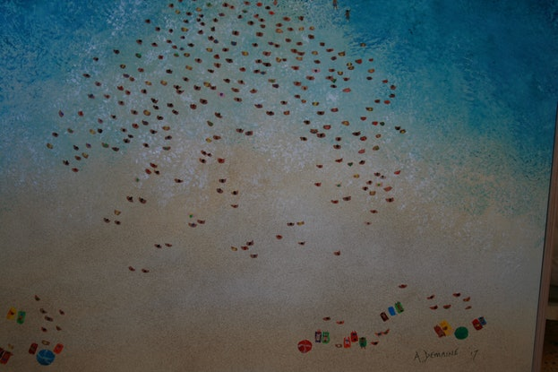 (CreativeWork) Rotto ocean swim by Andrew Demaine. Acrylic Paint. Shop online at Bluethumb.