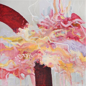 (CreativeWork) Ascent #2 by Rozanna Johnson. mixed-media. Shop online at Bluethumb.